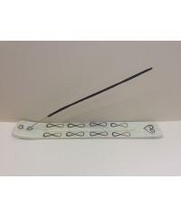 Подставка для палочек «лыжа» с элементами пирографии