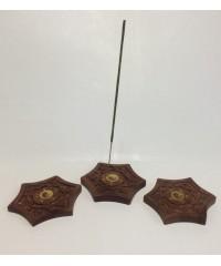 Н-14 - Подставка для палочек и конусов в виде 6-гранника, с резьбой, диаметр 10 см