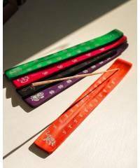"""Н-3 - Подставка для палочек """"лыжа"""" цветная деревянная с рисунком"""